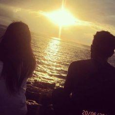 Sunrise of Sanur. Couple.