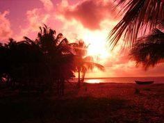 Coucher de soleil sur Awala Yalimapo