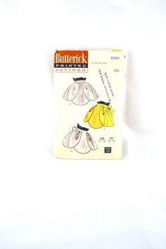 1950s Vintage Butterick Pattern 6743 Quick by TabbysVintageShop, $10.00