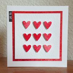 "Die schlichte Karte: Herzig ""Tick Tac Toe Hearts"" Simon Says Stamp, Dies, ""So to speak"" Chlearly Besotted"