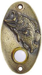 Buck Snort Lodge Bass Doorbell Antique Brass from Cabinet Knobs and More