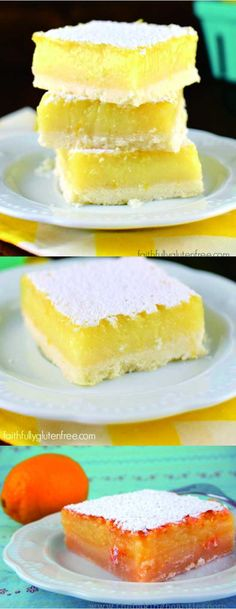 Gluten Free Lemon Bars - cake, cookie, dessert, gluten free, lemon, potato, recipes