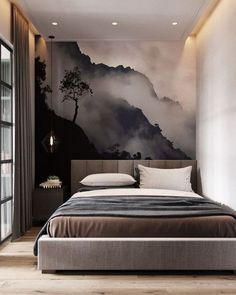 Simple Bedroom Ideas - All the bedroom design ideas you'll ever need. Discover your design and produce your desire bedroom system no matter what your budget plan, style or room dimension. Home Bedroom, Bedroom Wall, Bedroom Furniture, Bedroom Ideas, Bed Room, Tapestry Bedroom, Bedroom Murals, Bedroom Ceiling, Bedroom Windows