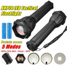 XANES 1293 Zoomable USB Rechargeable LED Flashlight XHP50 Highlight Telescopic 18650 2660 Torch Submarine Cable, Holiday Lights, Led Flashlight, Led Strip, Strip Lighting, Telescope, Highlights, January, Usb
