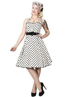 Collectif Rockabilly, Pin-Up, Retro Polka-Dot Swing Dress