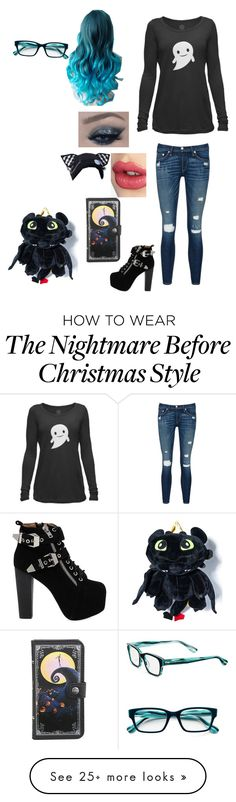 """Untitled #172"" by black-cat16 on Polyvore featuring rag & bone/JEAN, Jeffrey Campbell, Charlotte Tilbury and Corinne McCormack"