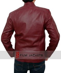 83d1d613f86 Chris Red Galaxy Leather Jacket M