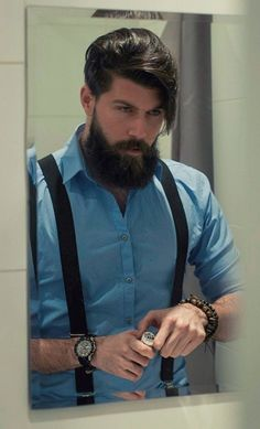 35 Masculine Long Beards for Men - Fashionetter Cool Hairstyles For Men, Cool Haircuts, Haircuts For Men, Male Hairstyles, Men's Haircuts, Beard Styles For Men, Hair And Beard Styles, Long Hair Styles, Bart Styles