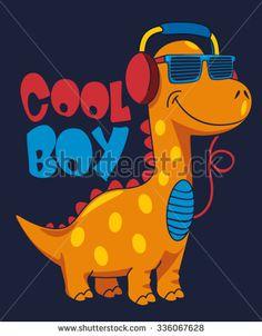 cool dinosaur character design - stock vector