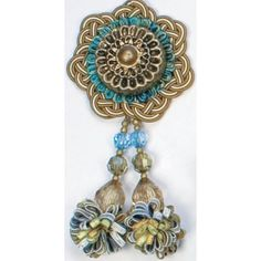 """#TAPESTRY COLLECTION 5 1/2"""" SMALL ROSETTE IN GANGES (SKU: TP26555/JB7) FROM BRIMAR"""