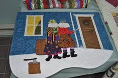 Gorgeous quilt of Newfoundland mummers. Newfoundland And Labrador, Amazing Adventures, Art Images, Projects To Try, Kids Rugs, Quilts, Create, Fun, Painting