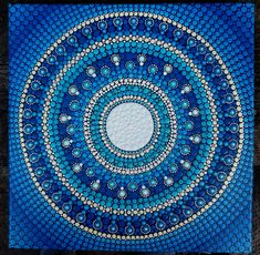 Original Full Moon Mandala Dot Painting - 30cm x 30cm by StripeyCatsStudio on Etsy