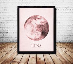 Mond Print Mond Moon Kunst Mond Wand Plakatkunst