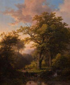 boslandschap- johan klombeck 1857