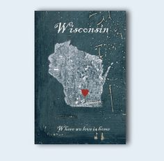 Wisconsin wall print decor map of Wisconsin state by MyHomeDeco, $14.00