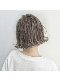 トルネード(Tornado) 外国人風ボブ ハイライトグラデーション グレージュ 外ハネ Shot Hair Styles, Long Hair Styles, Love Hair, My Hair, How To Make Hair, Make Up, Permed Hairstyles, Hair Designs, Hair Inspo