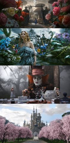 Alice in Wonderland, 2010 (dir. Tim Burton) By collagefilm