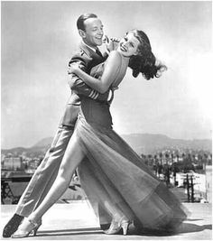 Dancers Fred Astaire and Rita Hayworth
