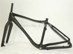Promotion Snow MTB Frames Chinese 26er MTB Carbon Bicycle Frames BSA Fat Bike Carbon Frame Chinese Fat Frame Rear 190mm
