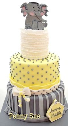 Baby Elephant Baby Shower Cake