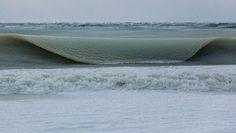 Freezing temperatures causing slushy surf