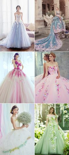 16 Magical Wedding Gowns Fairy Tale Fans Will Adore! Gorgeous Wedding Dress, Stunning Dresses, Boho Wedding Dress, Beautiful Gowns, Pretty Dresses, Wedding Gowns, Beautiful Dream, Ball Dresses, Ball Gowns