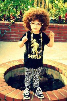 Cute kid ! party rock !
