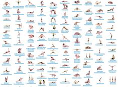 #Health #Infographics - Yoga Poses With Names #Infografia