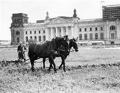 Berlin 1959 Platz der Republik vor dem Reichstag