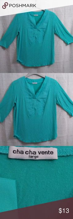 ChaCha Vente Turquoise Tunic-Large Pre loved but in great condition. cha cha  vente Tops Tunics