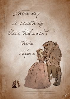 Beauty and the Beast inspired valentine.