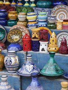 Pottery, Essaouira, Morocco Fotografie-Druck von William Sutton - AllPosters.at