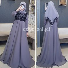 Image may contain: one or more people and people standing Abaya Fashion, Fashion Outfits, Hijab Gown, Dress Brokat, Prom Dresses, Formal Dresses, Wedding Dresses, Mode Hijab, Fashion Sketches