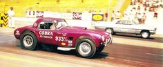 bike car drag raceing pinups | Drag racing a bright fuchsia AC Cobra has to be just about the coolest ...