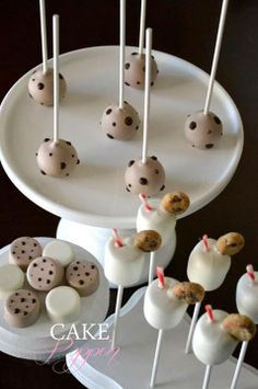 Milk and Cookies Cake Pops