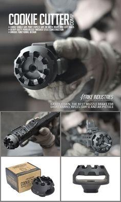 Muzzle brake for short barrel rifles and AR pistols Revolver, Ar15 Pistol, Ar Pistol Build, Weapons Guns, Guns And Ammo, Zombie Weapons, Ar 15 Builds, Tac Gear, Custom Guns