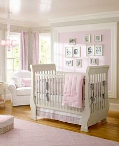 adorable girl nursery