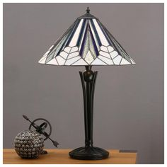 Interiors 1900 Astoria 2 Light Tiffany Table Lamp with Art Deco Design and Black Stem - Interiors 1900 from Castlegate Lights UK Tiffany Table Lamps, Art Deco Table Lamps, Table Lamp Base, Lamp Bases, Light Table, Art Deco Wall Lights, Art Deco Mirror, Ceiling Lights, Stained Glass Lamps