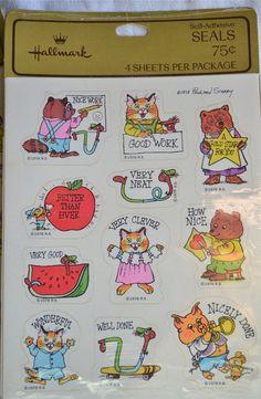 Vintage Hallmark Stickers  Richard Scarry 1978   by pumpkintruck, $15.00