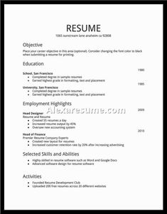 resume for first job examples builder templates rpnctn easyjobfirst best free home design idea inspiration
