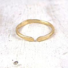 Simple Gold Open Stacking Ring