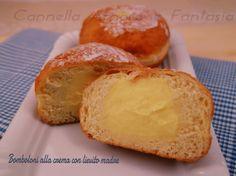 Bomboloni o Krapfen – ricette per tutti #matteincucina Bomboloni o krapfen alla crema con lievito madre