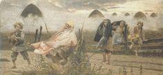 """Jacek Malczewski, """"Boginka w dziewannach"""" z cyklu """"Rusałki"""", 1888"""