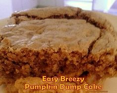 Easy Breezy Pumpkin Dump Cake - Recipes for regular and lite versions. You choose!