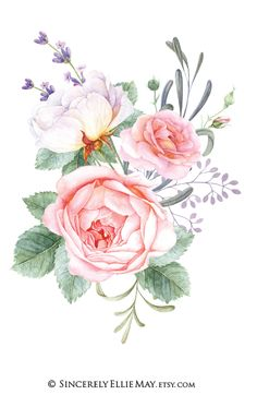 Set of 3 lovely pink and white peonies wall art printables great as gift to friends or your loved ones. Buda Wallpaper, Watercolor Flowers, Watercolor Art, Flower Nursery, Botanical Flowers, Wall Art Designs, Botanical Illustration, Clipart, Wall Art Decor