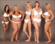 Real bodies. Forget the Dove ads.