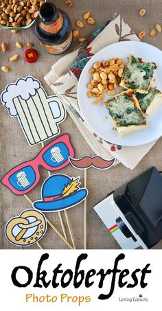 Oktoberfest Free Printable Photo Props - Perfect party ideas for celebrating at home! @livinglocurto