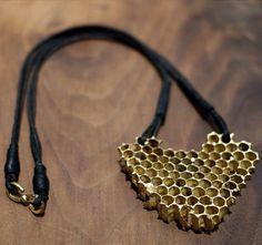 Black Sheep & Prodigal Sons  Hahnoma gold honeycomb necklace
