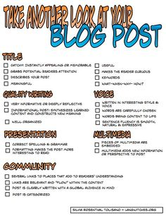 Student blogging is not a project, but a process. We are continuously striving to refine, improve and re-evaluate.