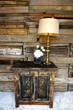 Carved Cross Side Table. Western DecorRustic FurnitureSide ...